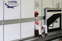 Льюис Хэмилтон. ГП Бразилии, Воскресенье, перед гонкой.