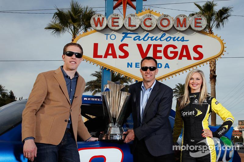 Brad Keselowski, Paul Wolfe and the Sprint Cup girl