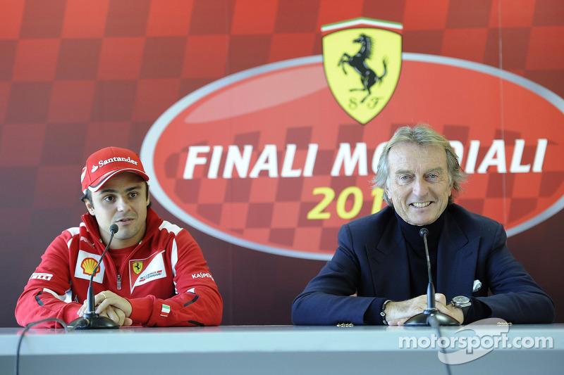 Felipe Massa and Luca di Montezemolo