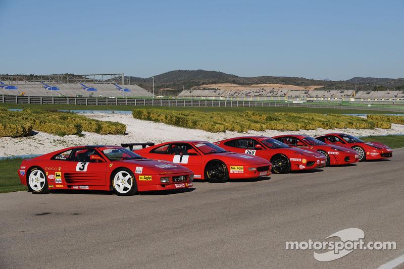 Five generations of Ferrari Challenge