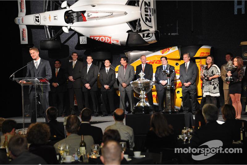 Райан Хантер-Рей. Празднования победы в чемпионате IndyCar, особое событие.
