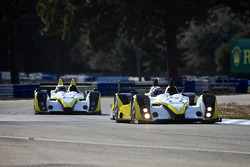 Two Oreca FLM-09 LMPC chassis during testing