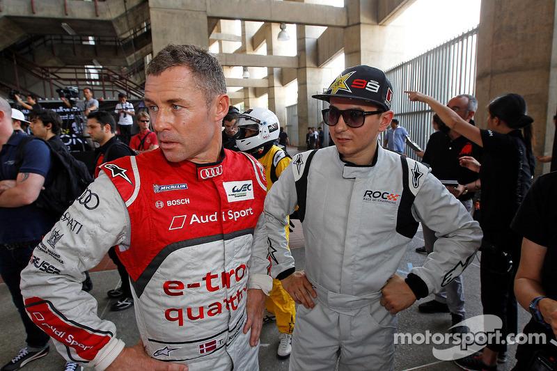 Tom Kristensen and Jorge Lorenzo
