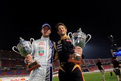 Second place Sébastien Ogier and Romain Grosjean