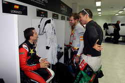 Jorge Lorenzo, Benito Guerra and Sebastian Vettel