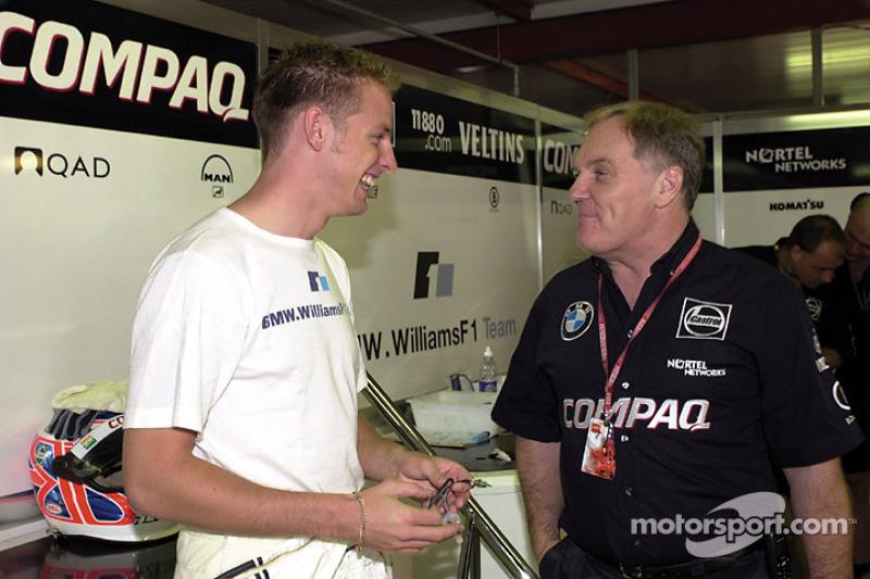 Jenson Button en Patrick Head