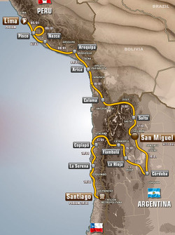 The 2013 Dakar route