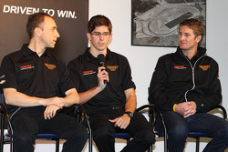 Max Angelelli, Jordan Taylor e Ryan Hunter-Reay, pilotos da Wayne Taylor Racing