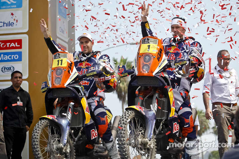 #11 KTM: Ruben Faria and #1 KTM: Cyril Despres
