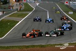 Jos Verstappen y Eddie Irvine