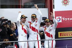 Podium: Race winner #25 Audi Sport Team Sainteloc Racing Audi R8 LMS: Markus Winkelhock, Christopher Haase, Jules Gounon