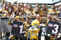 Polesitter Gabriel Rodrigo, RBA Racing Team, third place Juan Francisco Guevara, RBA Racing Team