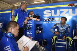 Shinichi Sahara, Team Suzuki MotoGP project leader, Takuya Tsuda, Team Suzuki MotoGP