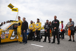 Todd Gilliland, Kyle Busch Motorsports Toyota and father David Gilliland