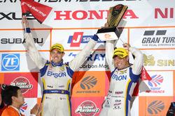 Podium GT500: #64 Nakajima Racing Honda NSX Concept GT: Bertrand Baguette, Kosuke Matsuura
