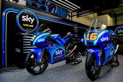 Le moto di Stefano Manzi, Sky Racing Team VR46 e Francesco Bagnaia, Sky Racing Team VR46 con la livrea