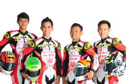 Irfan Ardiansyah, Gerry Salim, Rheza Danica dan Awhin Sanjaya, Astra Honda Racing Team