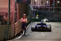 Marcus Ericsson, Sauber C36 na crash