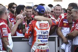 3. Jorge Lorenzo, Ducati Team, mit Gigi Dall'Igna, Ducati