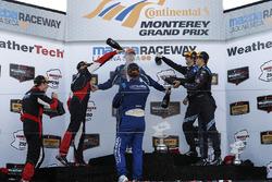 Podium: winners Renger van der Zande, Marc Goossens, Visit Florida Racing, second place Eric Curran, Dane Cameron, Action Express Racing, third place Ricky Taylor, Jordan Taylor, Wayne Taylor Racing