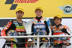 Podium: second place Mike Di Meglio, Race winner Scott Redding, third place Marc Marque