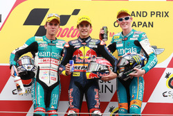 Podium: 1. Marc Marquez, 2. Nicolás Terol, 3. Bradley Smith