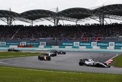 Felipe Massa, Williams FW40, Jolyon Palmer, Renault Sport F1 Team RS17, Lance Stroll, Williams FW40, Carlos Sainz Jr., Scuderia Toro Rosso STR12, Pierre Gasly, Scuderia Toro Rosso STR12, on the formation lap