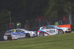 Ashley Sutton, Team BMR Subaru Levorg and Colin Turkington, West Surrey Racing BMW 125i M Sport