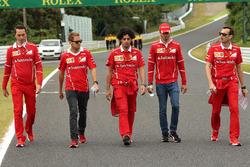 Sebastian Vettel, Ferrari y Antonio Giovinazzi