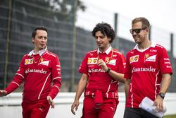 Sebastian Vettel, Ferrari y Antonio Giovinazzi, Ferrari