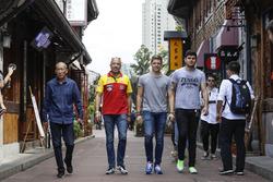 Том Коронель, Roal Motorsport, Ян Эрлаше, RC Motorsport, и Даниэль Надь, Honda Team Zengo