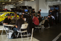 Joe Gibbs Racing Toyota technicians at work