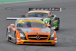 #1 Team Abu Dhabi by Black Falcon Mercedes SLS AMG GT3: Khaled Al Qubaisi, Bernd Schneider, Jeroen Bleekemolen, Sean Edwards