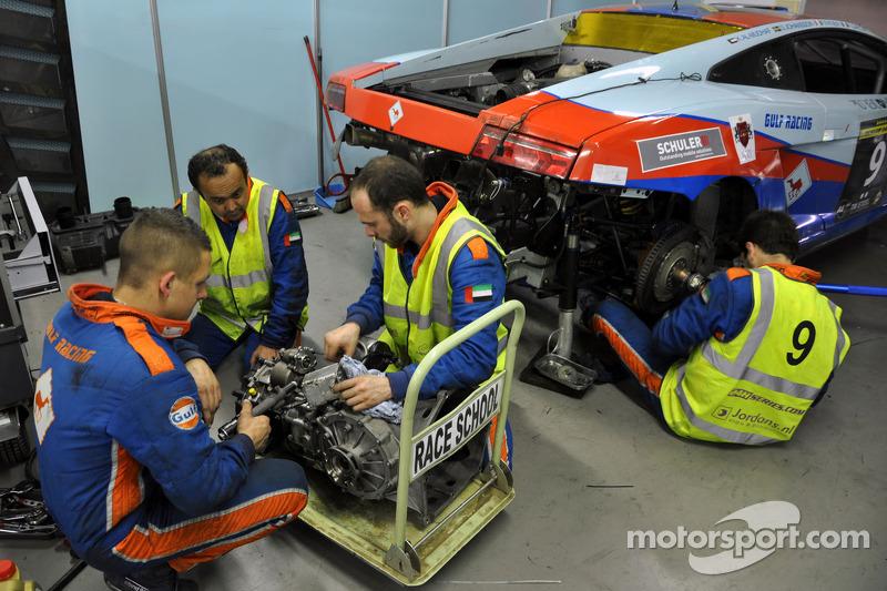 #9 Gulf Racing Middle East Lamborghini Gallardo LP600: Fabien Giroix, Frederic Fatien, Khaled Al Mud