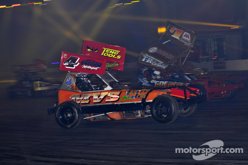 BRISCA F1 Stock car in de live action arena