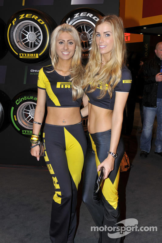 Pirelli Promo Girls At Autosport International Show