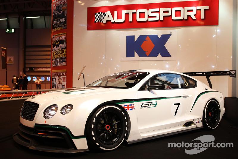 Bentley Continental GT3 op het hoofdpodium