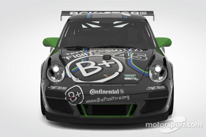 The #45 B+ Porsche