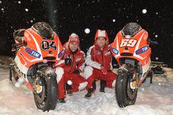 Andrea Dovizioso and Nicky Hayden, Ducati Marlboro Team unveil their bikes