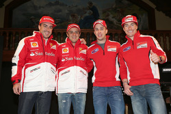 Fernando Alonso and Felipe Massa, Scuderia Ferrari and Andrea Dovizioso and Nicky Hayden, Ducati Marlboro Team