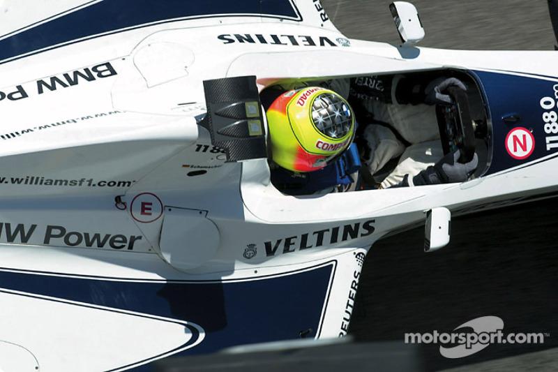 Ральф Шумахер. ГП Сан-Марино, Пятничная тренировка.