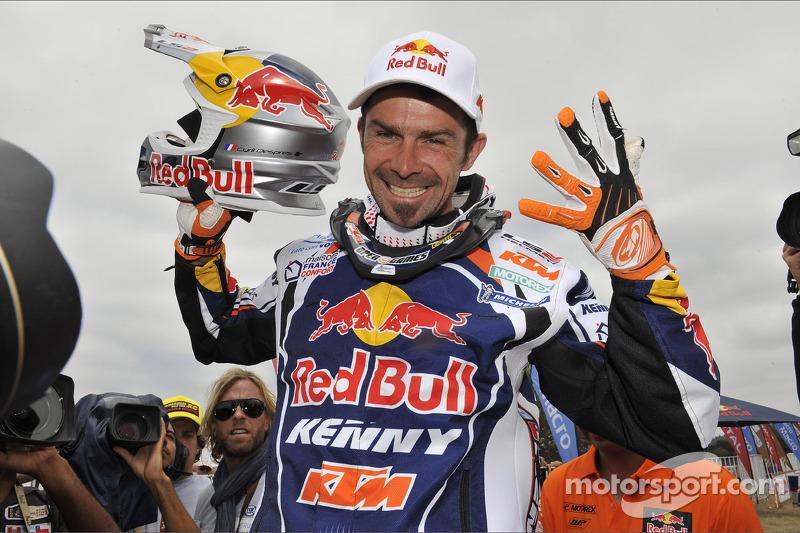 Cyril Despres, winnaar bij de motoren