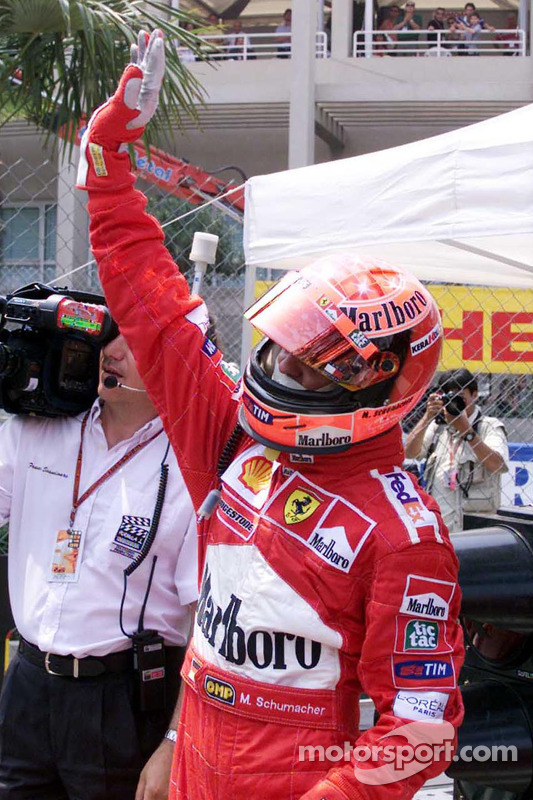 Ganador de la pole Michael Schumacher
