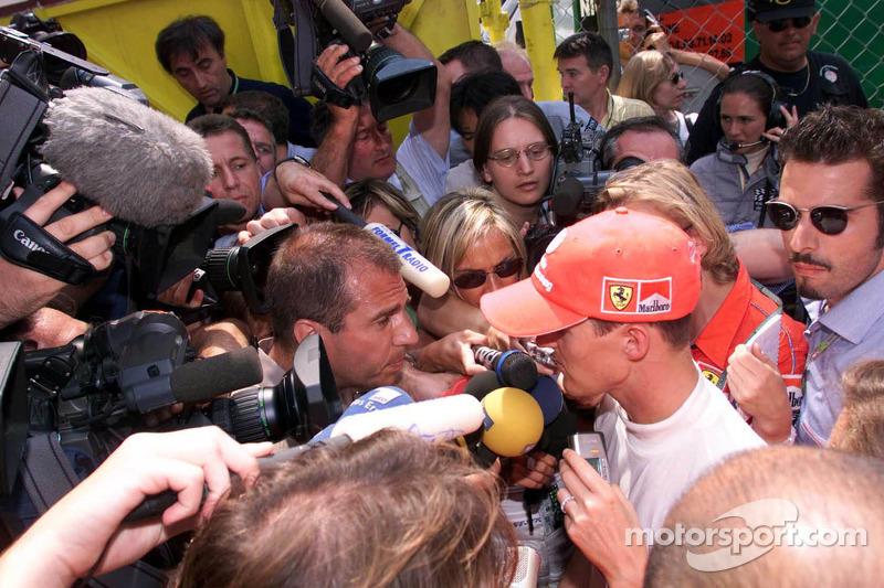 Michael Schumacher after retiring from race