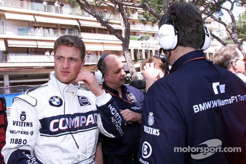 Ральф Шумахер. ГП Монако, Тренировка в четверг.