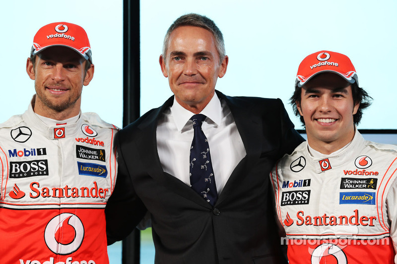 Jenson Button, McLaren, Martin Whitmarsh, Director Ejecutivo de McLaren y Sergio Pérez, McLaren