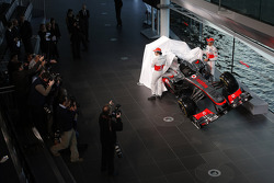 Sergio Perez, McLaren and team mate Jenson Button, McLaren unveil the new McLaren MP4-31
