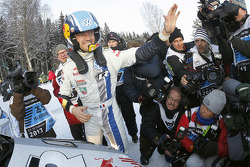 Sébastien Ogier, Volkswagen Motorsport celebrates the win