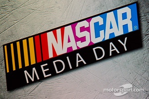 NASCAR Media Day signage