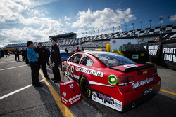 Car of Ryan Newman, Stewart-Haas Racing Chevrolet at technical inspection